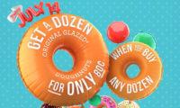 Krispy Kreme、1ダースのドーナツが80セントで買える、7月14日