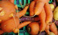 見た目の悪い野菜と果物を破棄せずに家庭に安く販売する会社がアメリカに広まっている