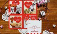 KFC フライドチキンの匂いがするバレンタインデーのスクラッチカード
