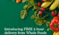 Amazon ホールフーズの商品を無料で2時間で宅配するサービスをアメリカ4地域で開始